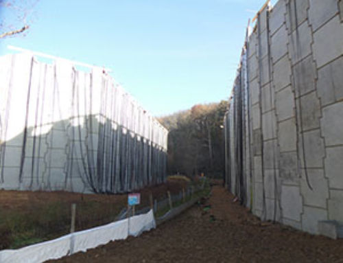 France – 15 meters high abutments for national road 82