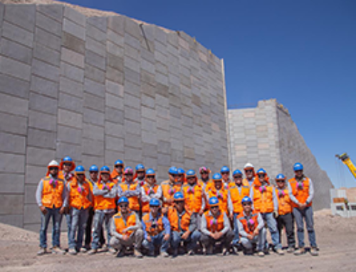 Tierra Armada Chile supplies close to 4000m2 of Reinforced Earth® walls for copper mine in Chile