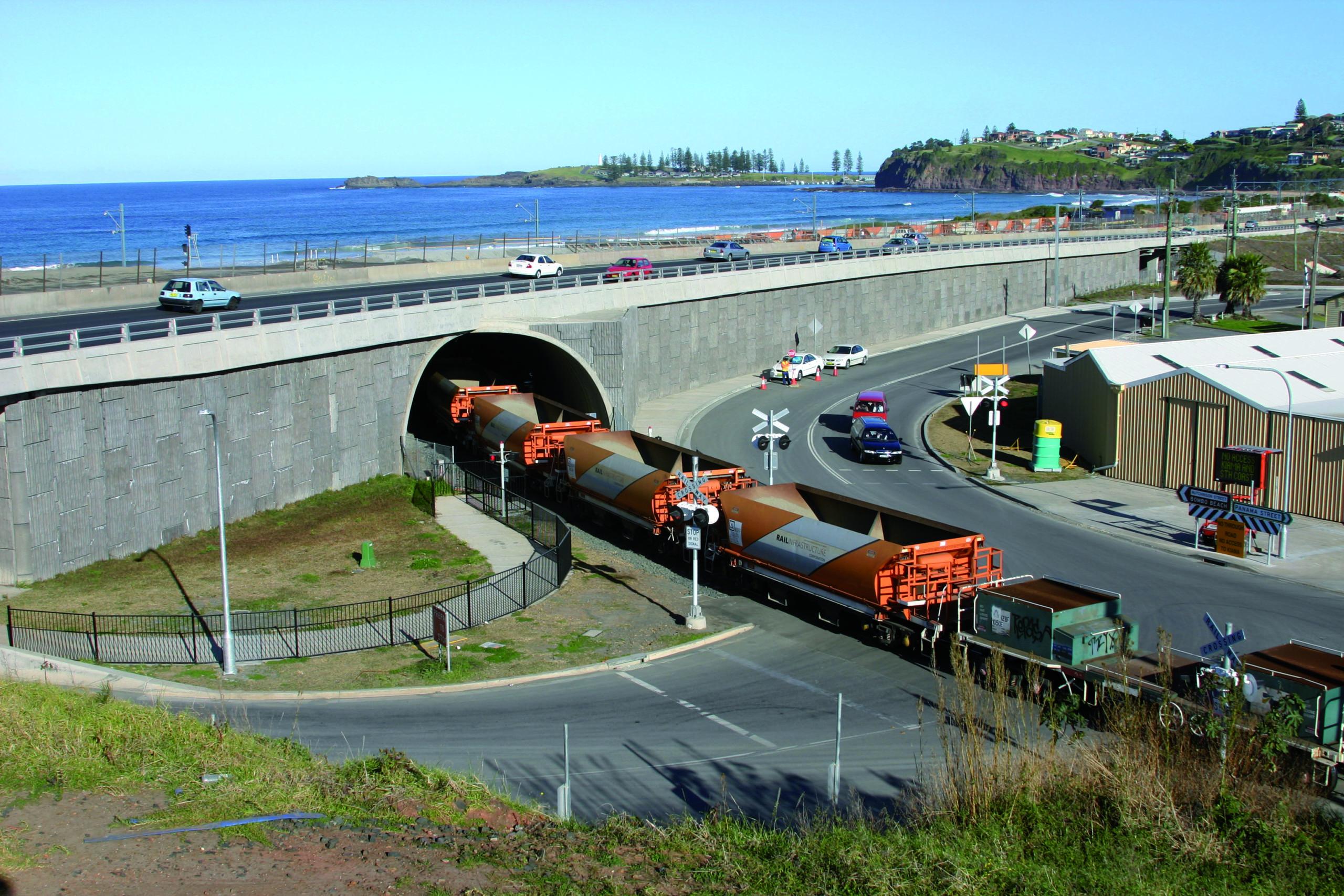 TechSpan precast arch rail underpass