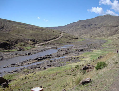 LESOTHO – A TerraTrel® bridge near Koma Koma Village